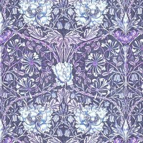 Morris style tulip violet