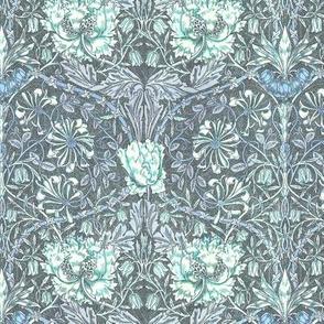 Morris style tulip aqua