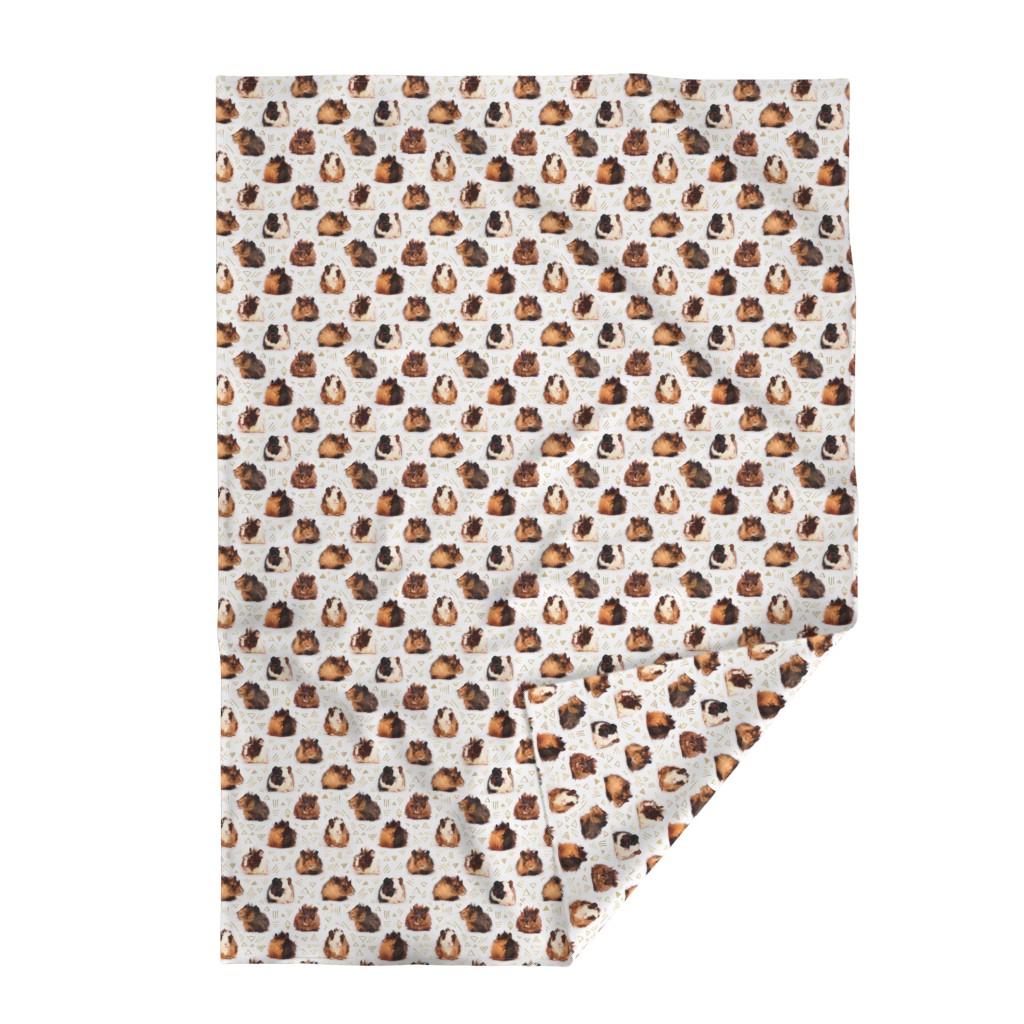 Lakenvelder Throw Blanket featuring Lots of Little Guinea Pigs by micklyn