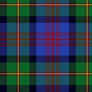 "Logan or MacLennan tartan, traditional 5-stripe, 6"" bright"