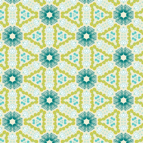 Floral Hexagons by Friztin