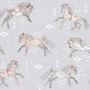 War horses (grey)