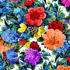Mid Century Floral ~ Garden Party ~ In Bloom