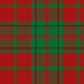 """Drummond tartan - 6"""" red and green"""
