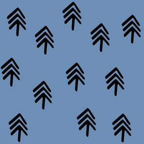 trees black on blue ss16