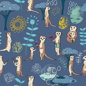 Happy Meerkats Blue