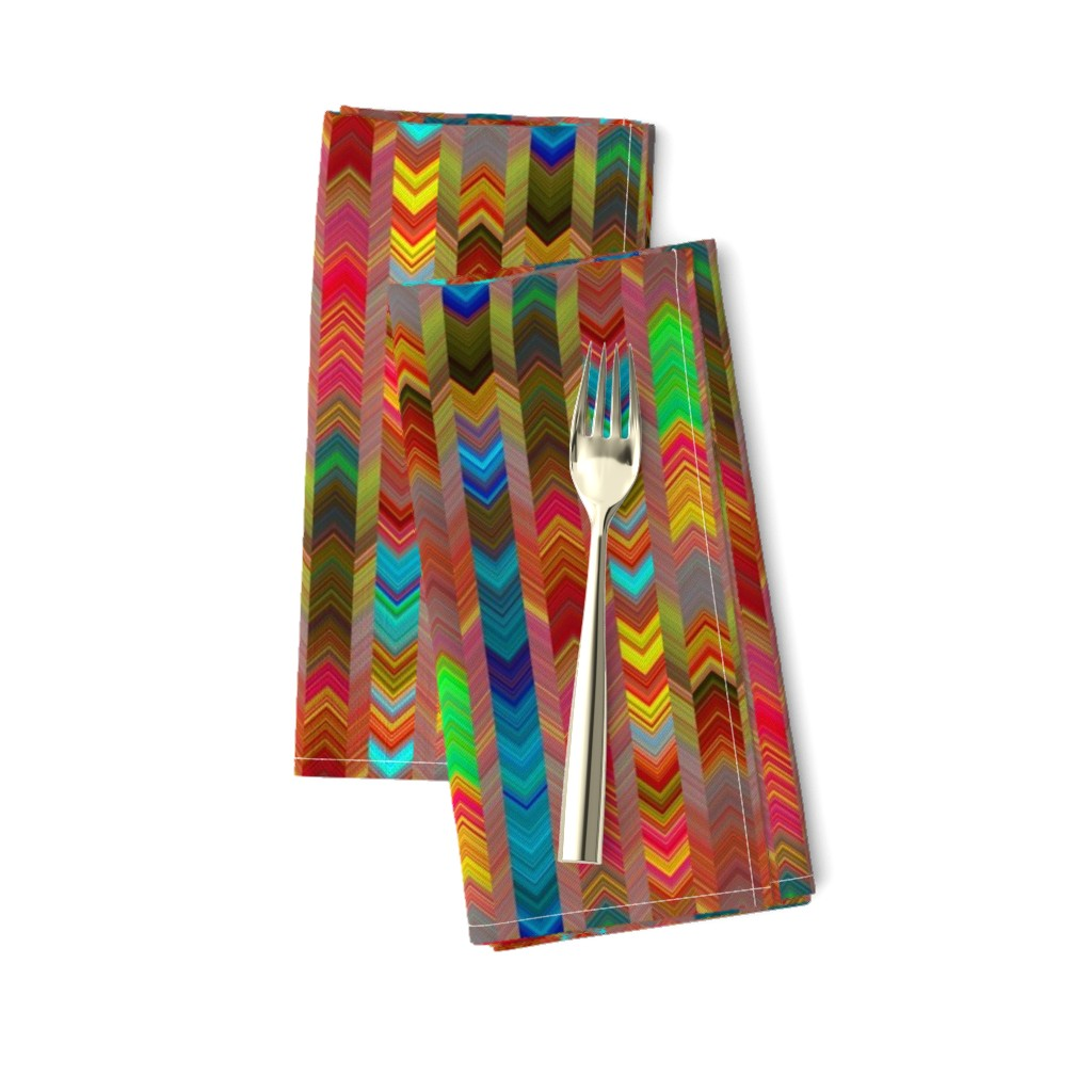 Amarela Dinner Napkins featuring CHEVRONS AUTUMN LEAF SHADES by paysmage