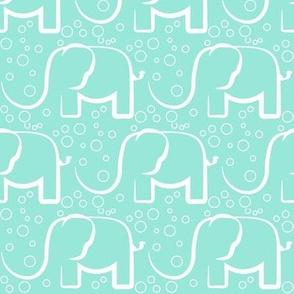 baby jungle bubble mint elefant