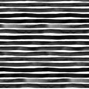Watercolor Stripes M+M Black Hole by Friztin