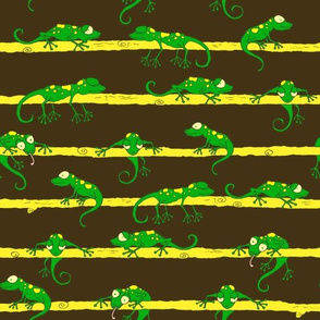 The Ditsy Green Lizards