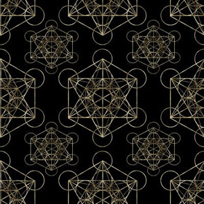 Metatron's Cube Black & Gold