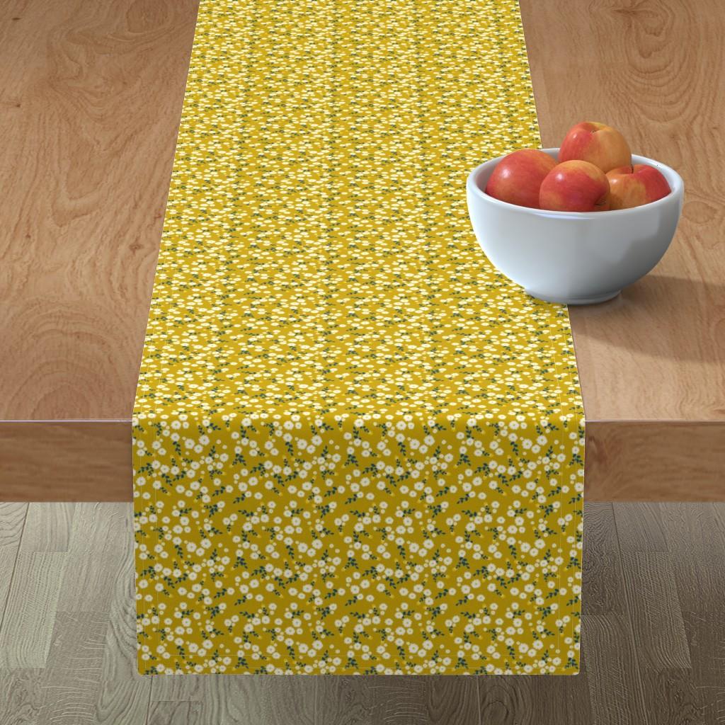 Minorca Table Runner featuring Autumn Yellow Daisy by katebillingsley