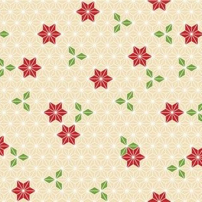 Asanoha flower-red