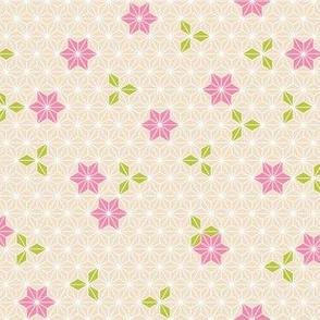 Asanoha flower-pink