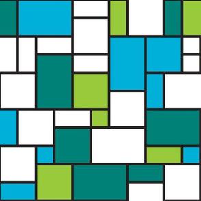 Mondrian-blue green
