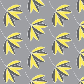 leafy gray and yellow