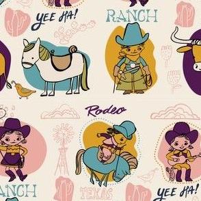 Cowgirls Cowboys purple