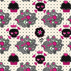 Cupcake Goth Skull Abstract - Day 3