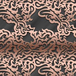 014 embossed metal - rose gold