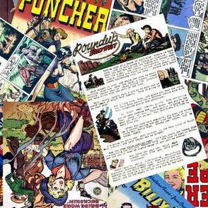 vintage comic book western - LARGE PRINT