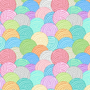 Balls of yarn - multi
