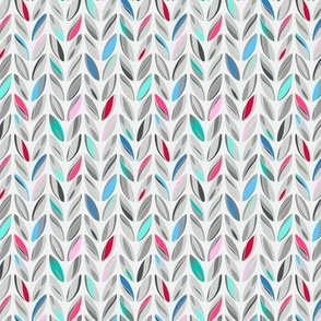 knitted rows - multicolor heather