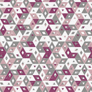 pink grey marble triangles