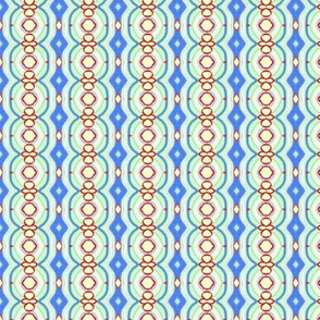Blue and Red Texture Stripe (small)