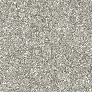 Garden Doodles grey