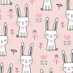 Dreamy Bunny Rabbit in Pink