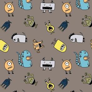 Little Monsters in Grey