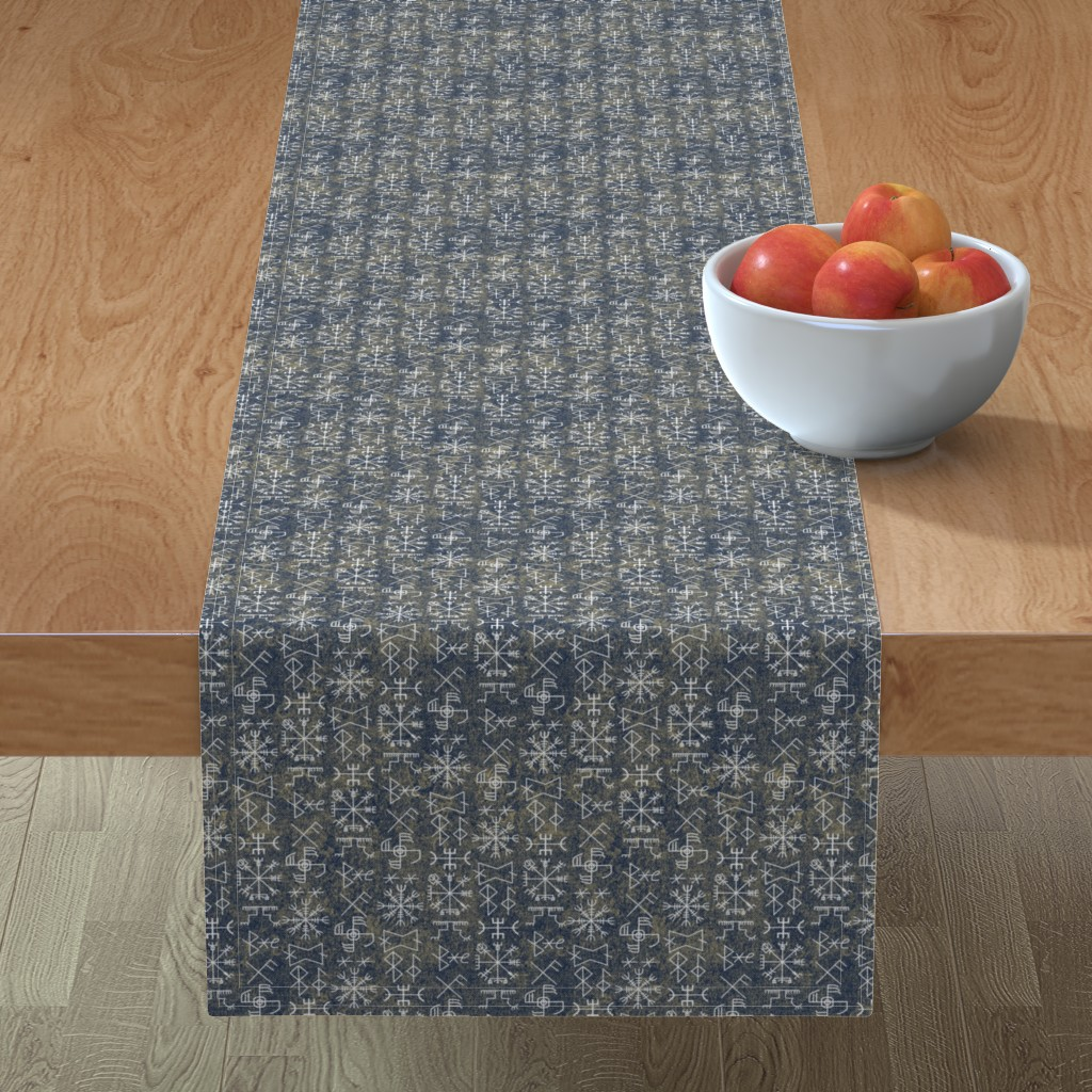 Minorca Table Runner featuring viking#9 by susiprint