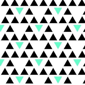 Black and Mint Triangles