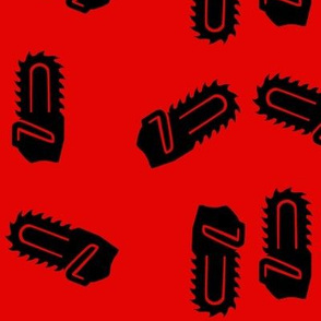 Black & Red Chainsaws