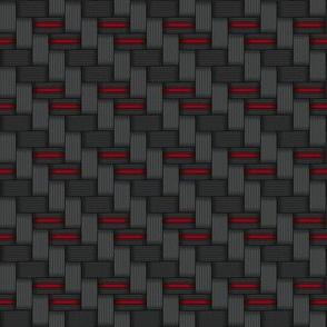 014 metal carbon fibre - red wire
