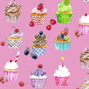 Cupcakes creamy pink
