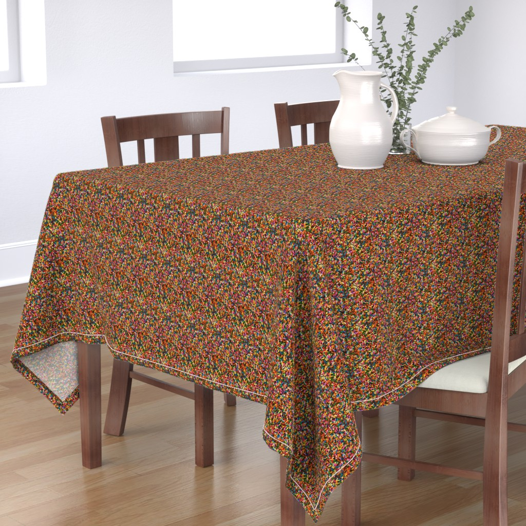Bantam Rectangular Tablecloth featuring Rainbow Sprinkles by new_earth_baby
