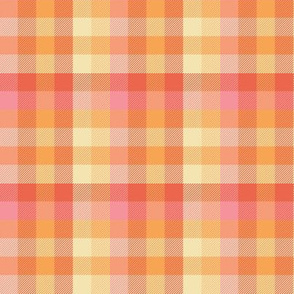 Madras plaid - creamsicle