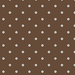 Dot Floral -  Chocolate