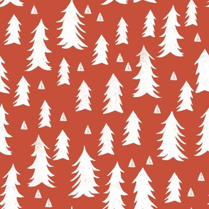 trees // brick red trees forest fir tree woodland kids