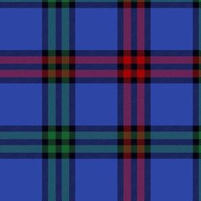 """Montgomerie tartan -  6"""" red / green / true blue"""