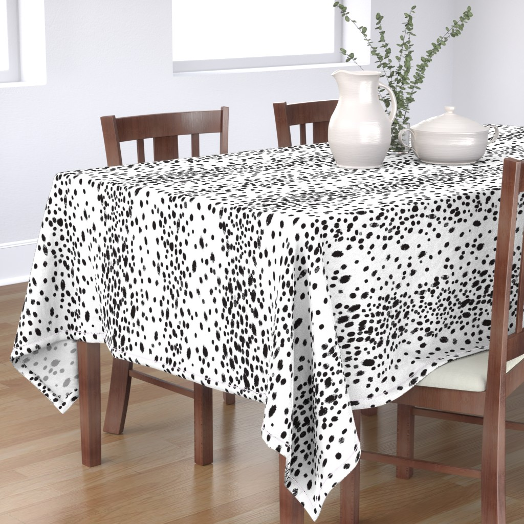 Bantam Rectangular Tablecloth featuring charcoal dots by domesticate