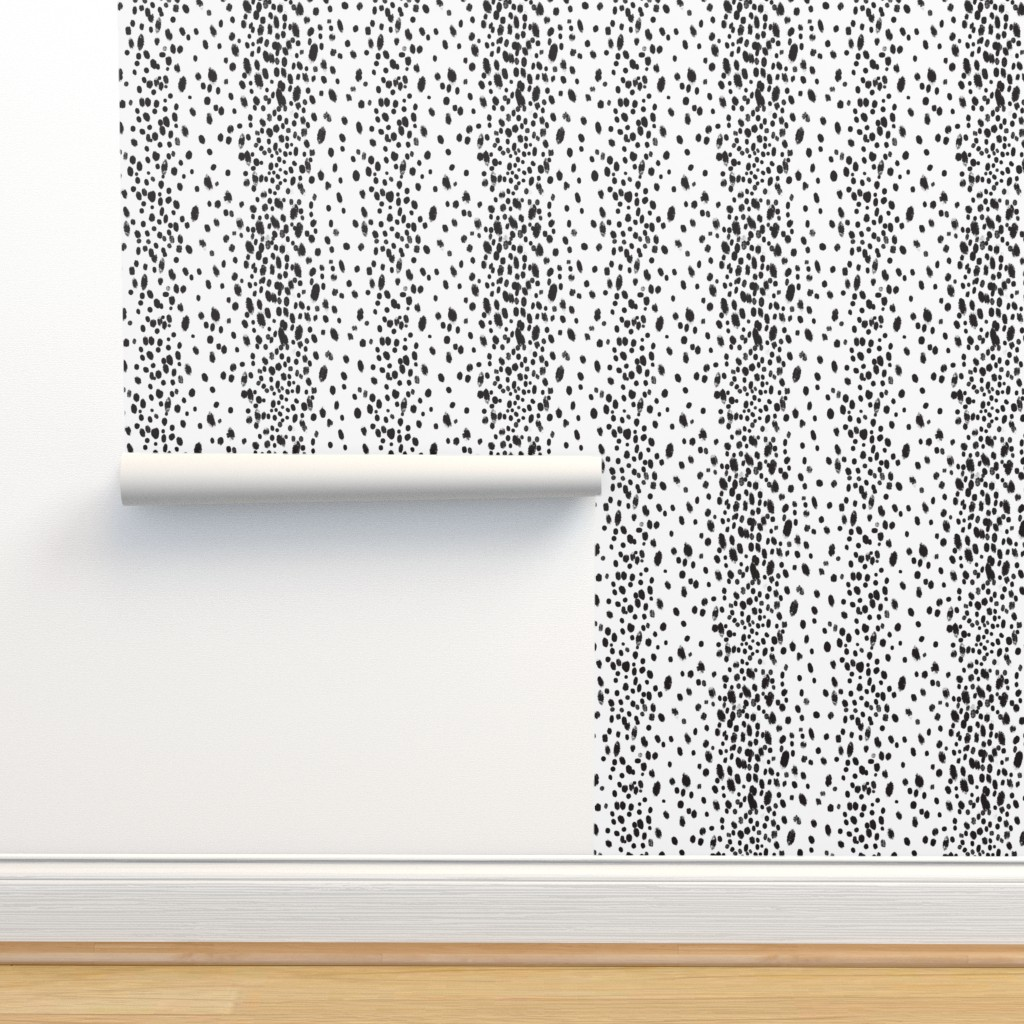 Isobar Durable Wallpaper featuring charcoal dots by domesticate