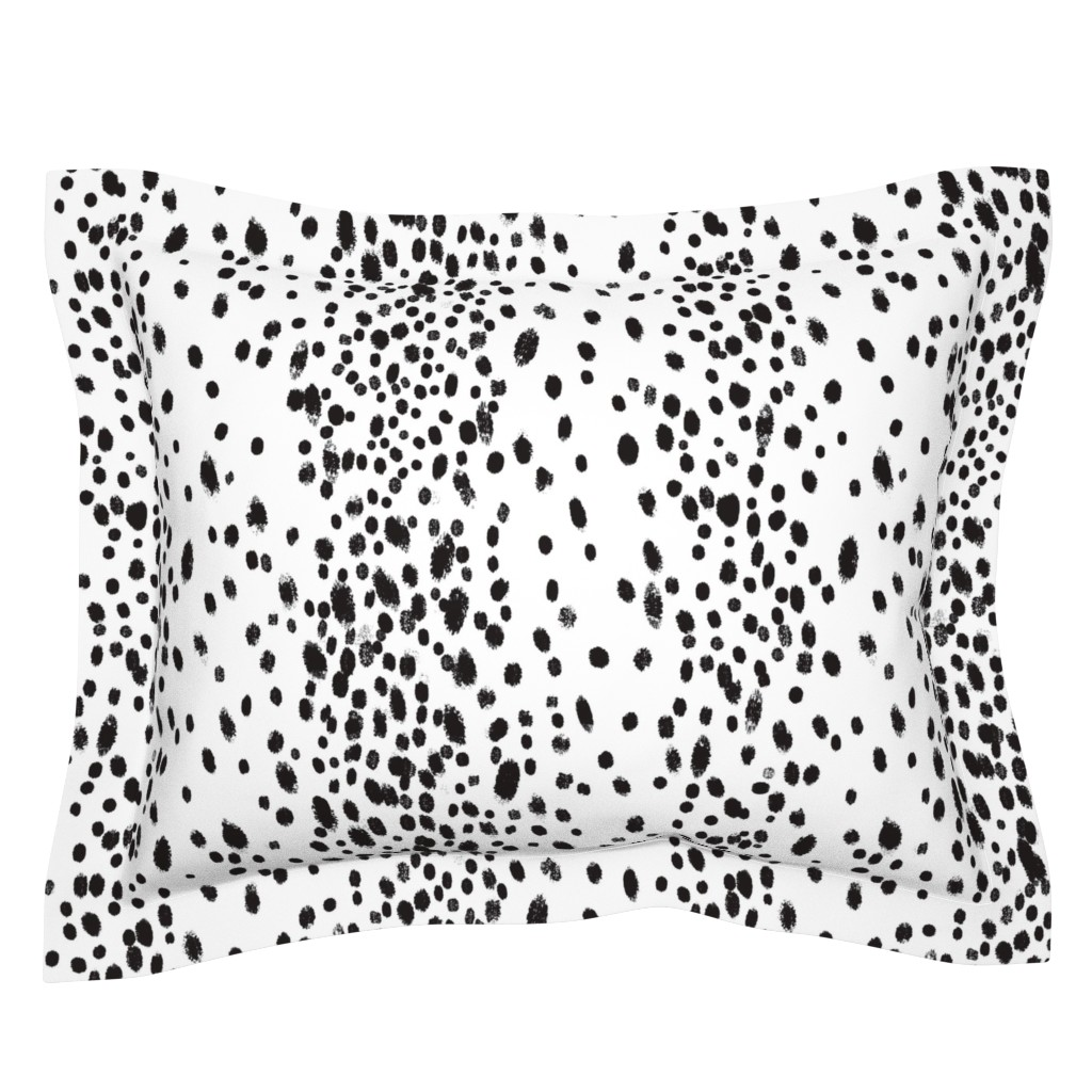 Sebright Pillow Sham featuring charcoal dots by domesticate
