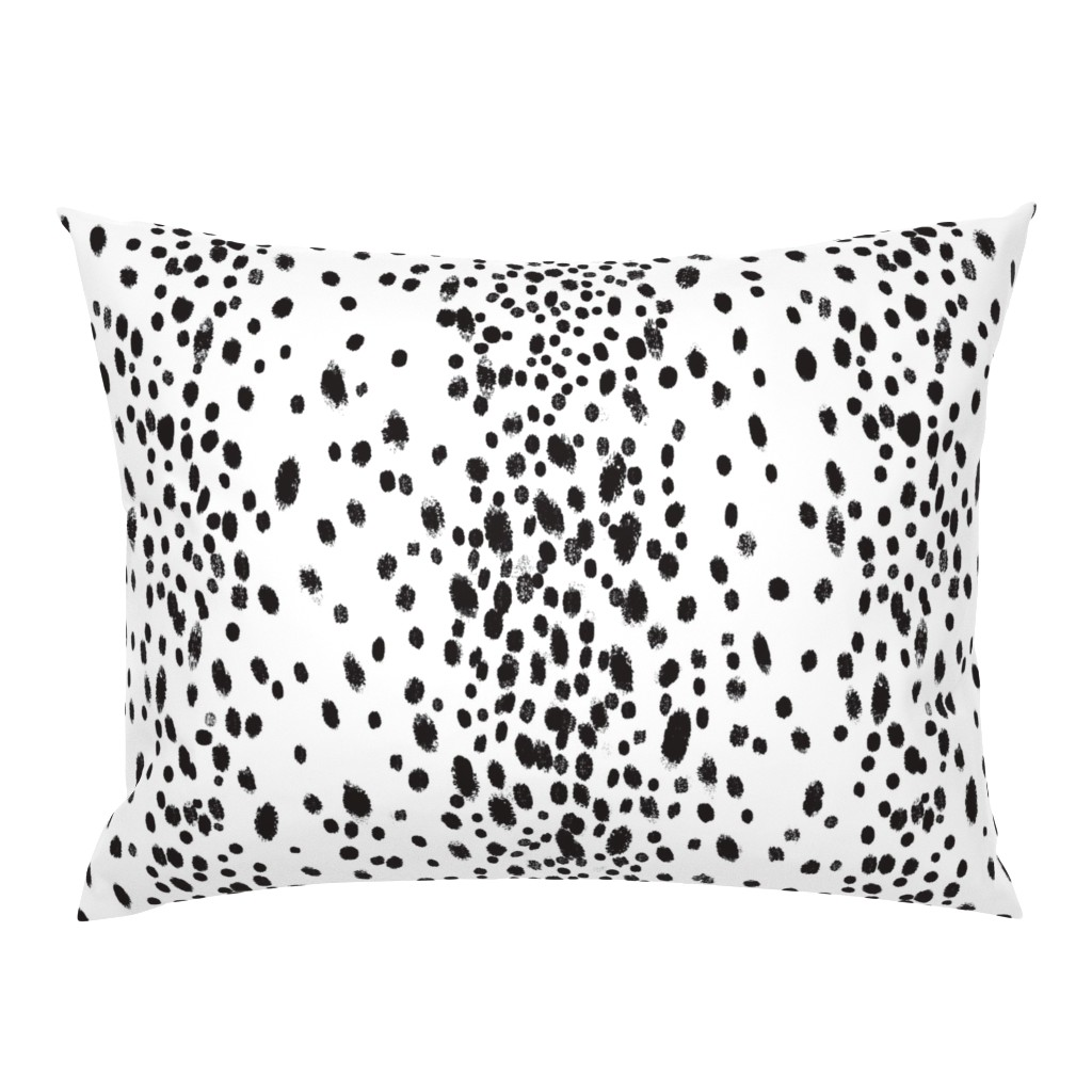 Campine Pillow Sham featuring charcoal dots by domesticate