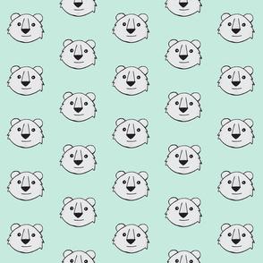 Polar bear stark white