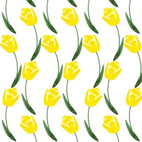 Twining Tulips -- in golden yellow