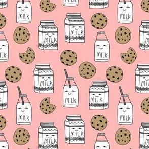 milk and cookies // pink small version kids milk jug food cute novelty print for girls