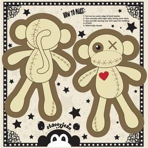 VooDoo Monkey Cut & Sew Pillow Doll (TS)