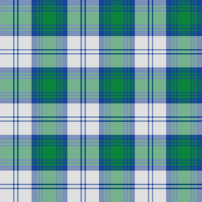 "Lindsay dress tartan - 6"" blue, green, white"